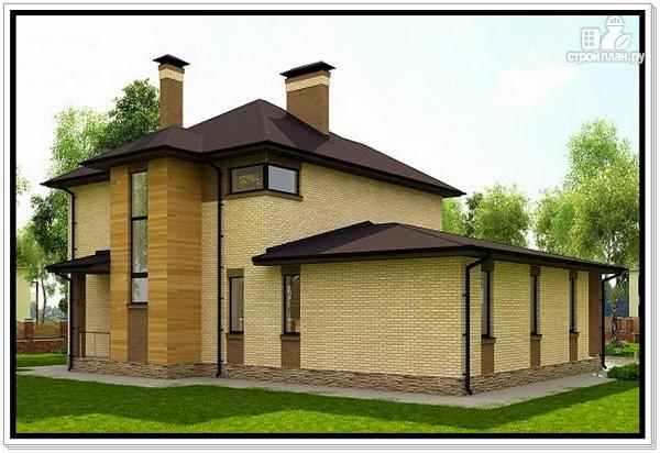 Фото 4: проект дом из газобетона с верандой