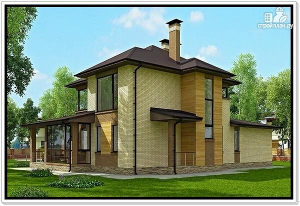 Фото 5: проект дом из газобетона с верандой
