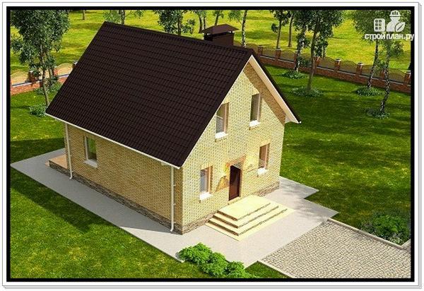 Фото 6: проект дом из газобетона с мансардой