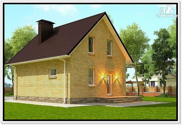 Фото 4: проект дом из газобетона с мансардой