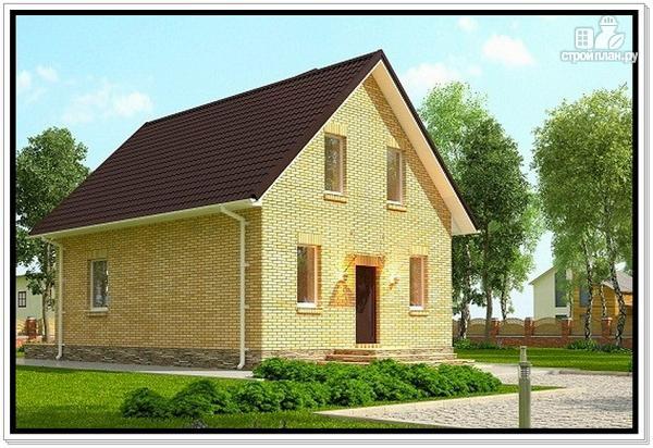 Фото 3: проект дом из газобетона с мансардой