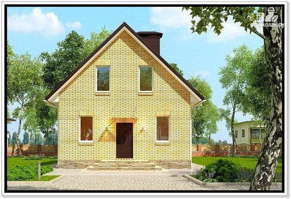 Проект дома на две семьи с мансардой и террасой Rz1181 (Zb4)