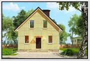 Проект дом из газобетона с мансардой