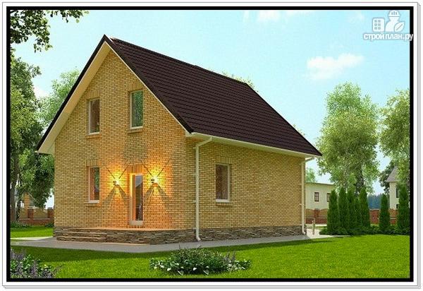 Фото 5: проект дом из газобетона с мансардой