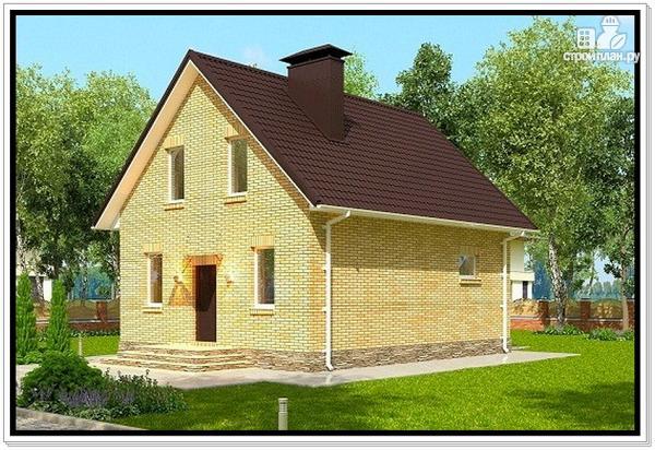 Фото 2: проект дом из газобетона с мансардой