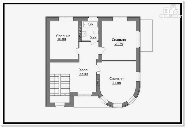 Фото 7: проект дом из газобетона с круглым эркером