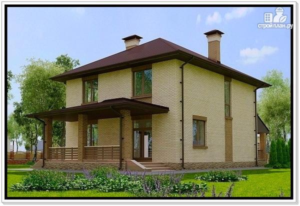 Фото 4: проект дом из газобетона с двумя входами