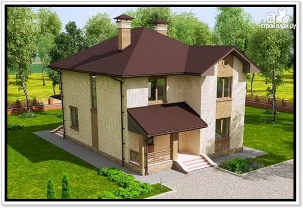 Фото 6: проект дом из газобетона с двумя входами
