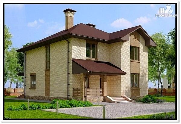 Фото 3: проект дом из газобетона с двумя входами