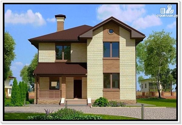 Фото: проект дом из газобетона с двумя входами