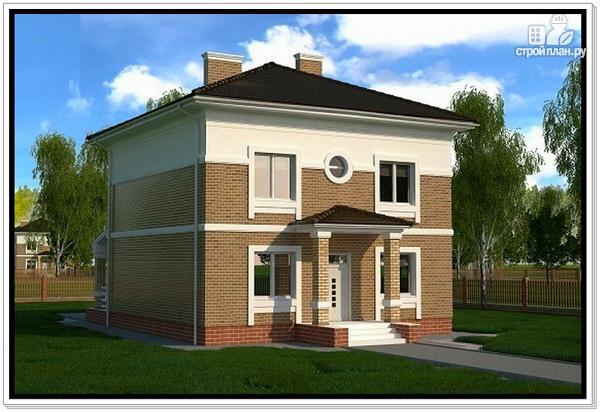 Фото 3: проект дом из газобетона с четырехскатной крышей