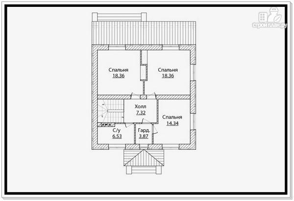Фото 7: проект дом из газобетона с четырехскатной крышей