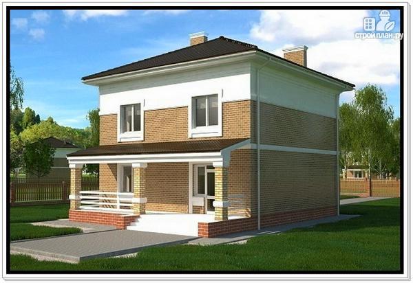 Фото 4: проект дом из газобетона с четырехскатной крышей