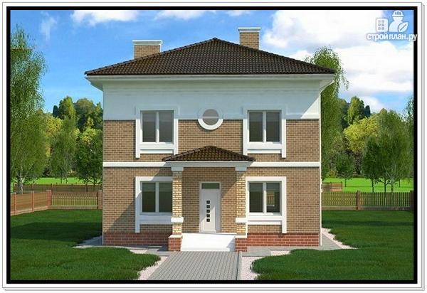 Фото: проект дом из газобетона с четырехскатной крышей