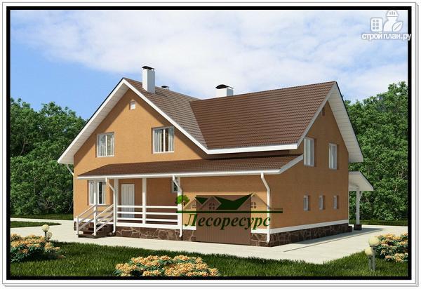 Фото: проект каркасноый дом для большой семьи