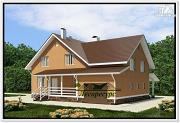 Фото: каркасноый дом для большой семьи