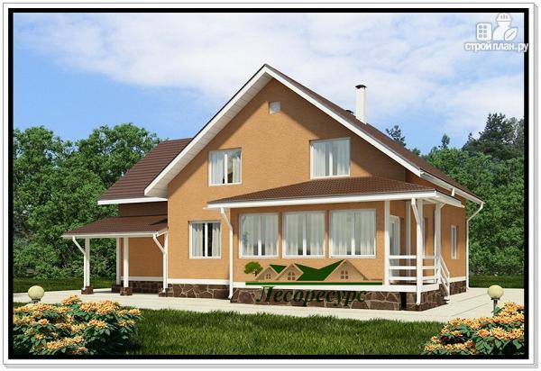 Фото 2: проект каркасноый дом для большой семьи