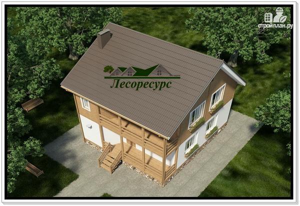 Фото 6: проект каркасный дом с балконом