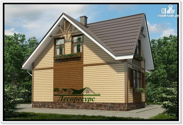 Фото 3: проект каркасный дом с тремя фронтонами