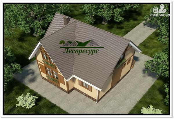 Фото 6: проект каркасный дом с тремя фронтонами