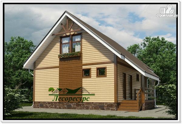 Фото 4: проект каркасный дом с тремя фронтонами