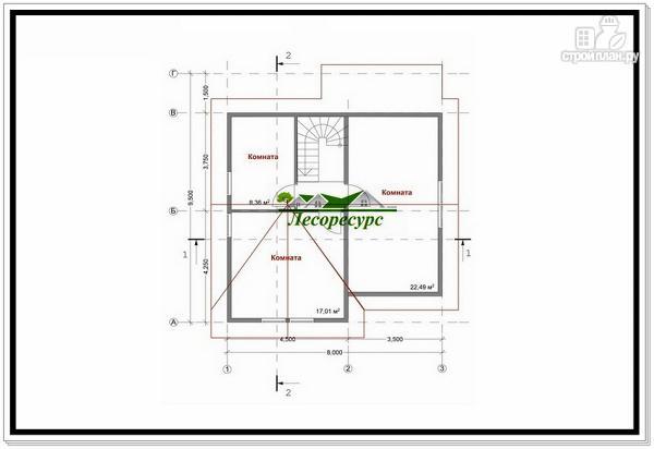 Фото 8: проект каркасный дом с тремя фронтонами