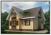 Фото: каркасный дом с тремя фронтонами