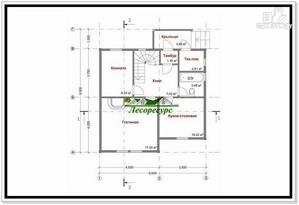 Фото 7: проект каркасный дом с тремя фронтонами