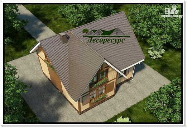 Фото 5: проект каркасный дом с тремя фронтонами