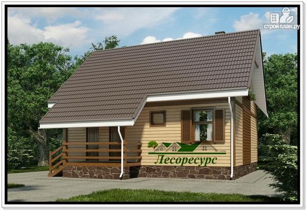 Фото 2: проект каркасный дом с тремя фронтонами