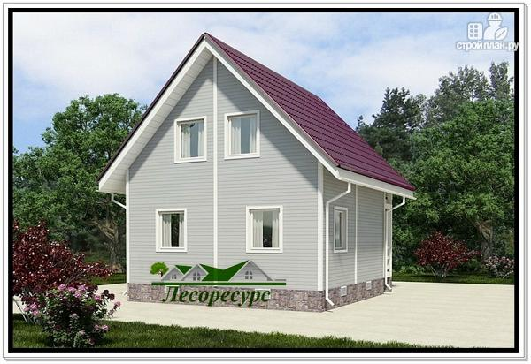 Фото 2: проект каркасноый дом для небольшого участка