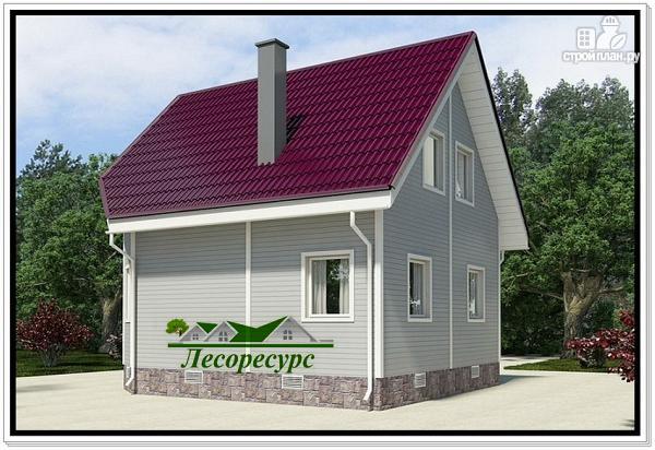 Фото 3: проект каркасноый дом для небольшого участка