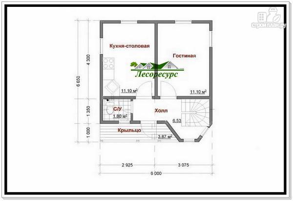 Фото 6: проект каркасноый дом для небольшого участка