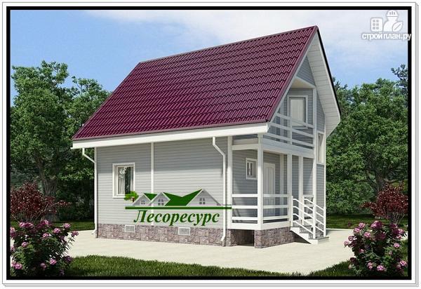 Фото: проект каркасноый дом для небольшого участка