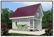 Фото: каркасноый дом для небольшого участка