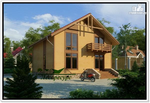 Фото 2: проект каркасный дом с двумя балконами