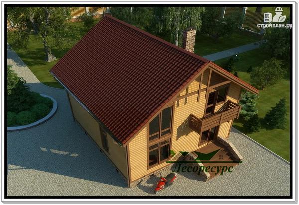 Фото 5: проект каркасный дом с двумя балконами