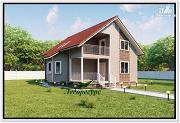 Проект каркасный дом 9 на 10