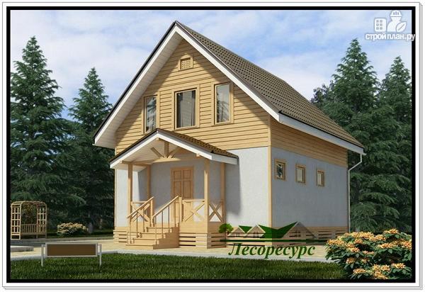Фото: проект каркасный дом 6 на 8 с мансардой