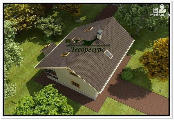 Фото 4: проект каркасный дом с удлиненной крышей