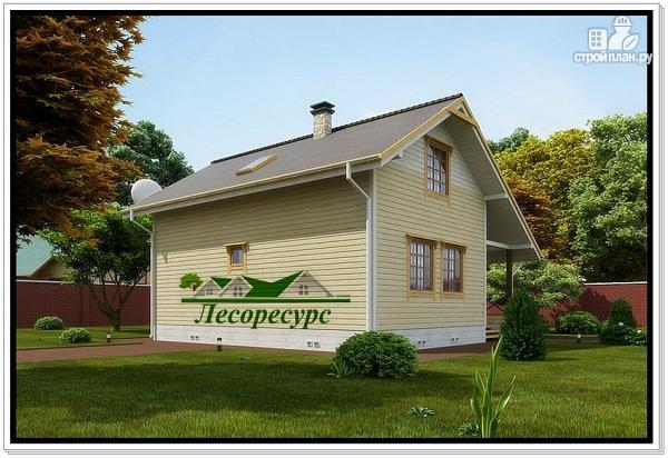Фото 3: проект каркасный дом с удлиненной крышей