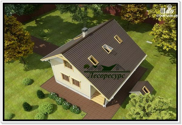 Фото 5: проект каркасный дом с удлиненной крышей