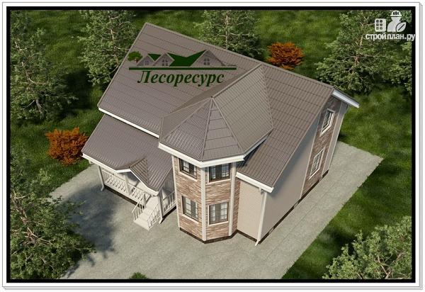 Фото 5: проект дом с двухэтажным эркером
