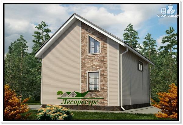 Фото 4: проект дом с двухэтажным эркером