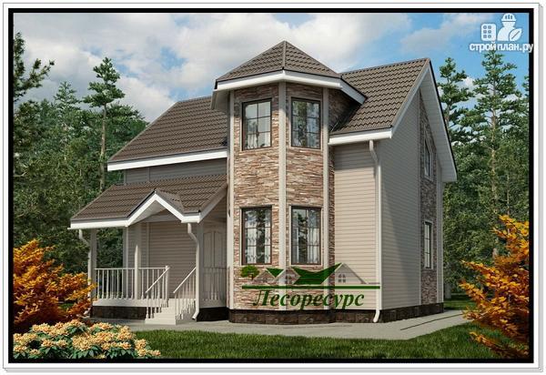 Фото: проект дом с двухэтажным эркером