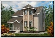 Фото: дом с двухэтажным эркером