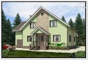Проект каркасный дом 11 на 12
