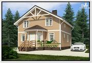 Проект каркасный дом 8 на 8 с эркером