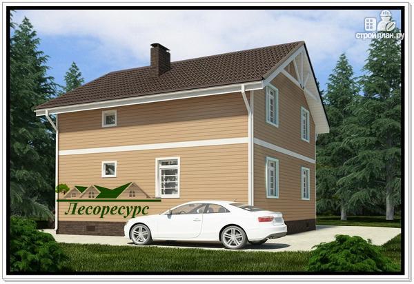 Фото 4: проект каркасный дом 8 на 8 с эркером