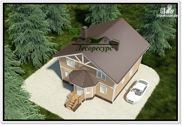 Фото 5: проект каркасный дом 8 на 8 с эркером